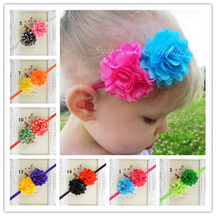 Newborn Baby Girls Flower Headbands Photography Props Infant Baby Head band Children Kid Accessories(China (Mainland))