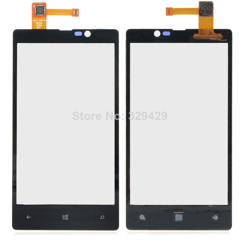 Black Replacement Digitizer Touch Screen Glass for Nokia LUMIA 820 N820 B0217 P