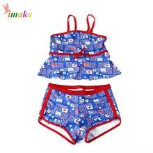 IMAKA Girls Swimsuit Toddler Swimwear Summer 2016 Brand Baby Girl Swimwear Kids Bathing Suit Floral Print
