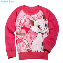 Humor Bear ashion design free shipping  kids wear clothing cartoon marie  long sleeve T-shirts for baby girls(China (Mainland))