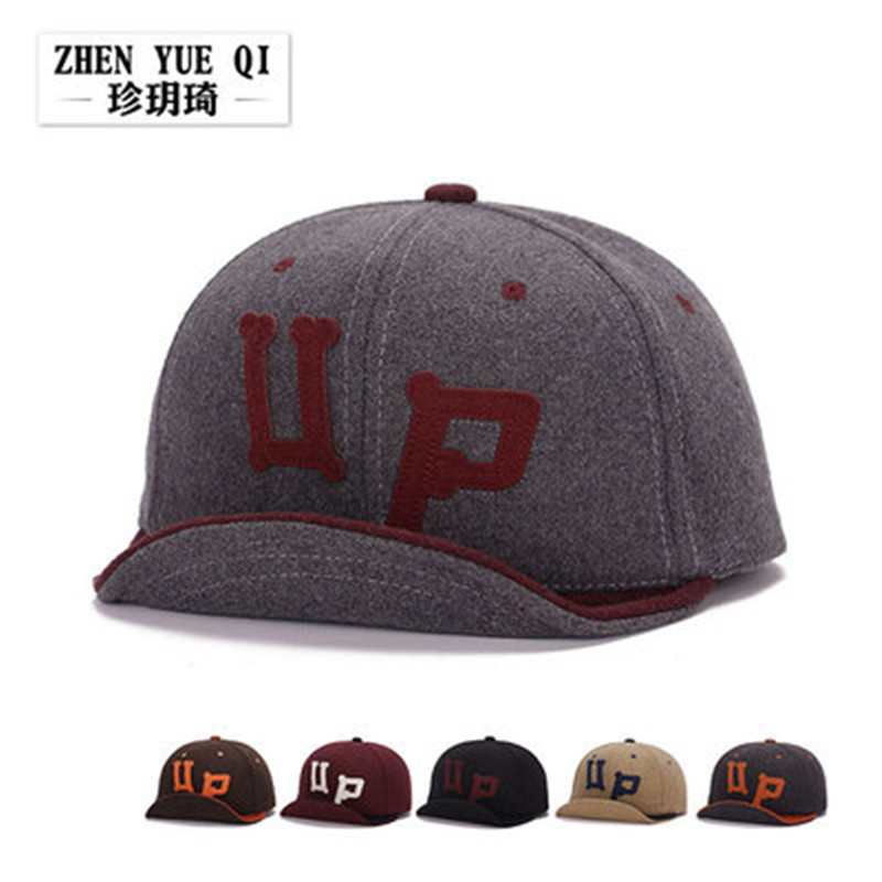 New autumn and winter woolen fashion lovers around the bulk of a baseball cap turned eaves UP mixed colors hip-hop hat snapback(China (Mainland))