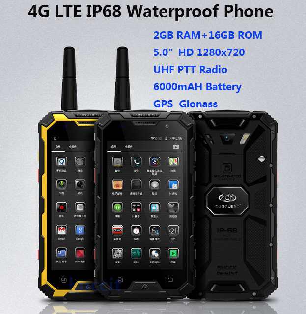 Original Mtk6582 Quad Core Discovery V11 Rugged Smartphone