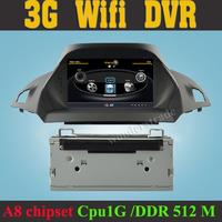 S100 Car DVD Player autoradio GPS  Radio for Ford Kuga Escape 2013 2014 + 3G WIFI + V-20 Disc + 1GB cpu + DDR 512M RAM + DVR