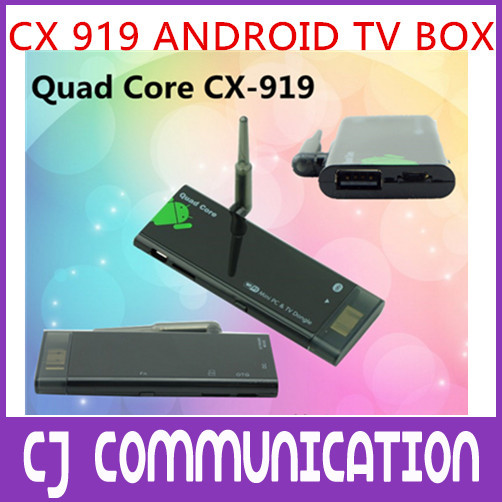 CX-919 attenna strong Wifi Mini PC Quad Core RK3188 Android 4.2.2 Android Smart TV Stick Google Dongle TV Box CX-919 ii(China (Mainland))