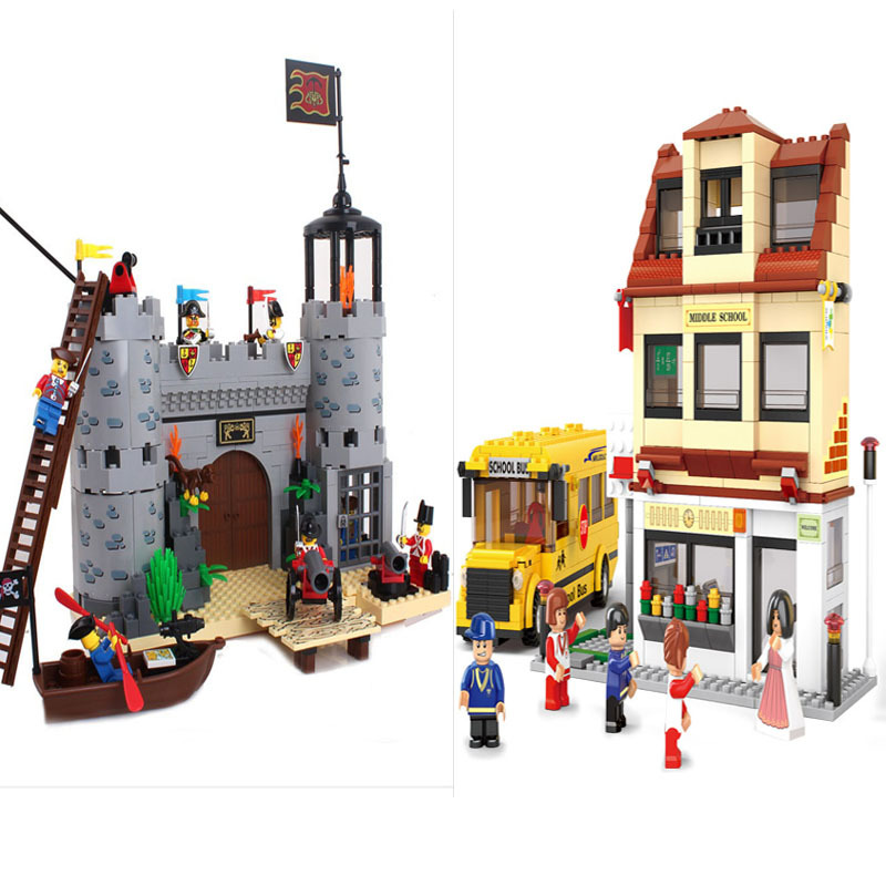 Educational Toys children blocks Building pirate see Robbery barracks rover self-locking bricks Compatible Lego - zhichao shaw's store