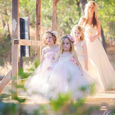 New Hot Sale Straps Sweetheart Strapless Flower Tulle Flower Girl Dresses Ball Gown Size 2 3