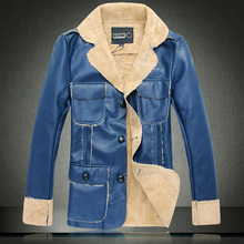 Men's cashmere jacket PU leather jacket men jaqueta de couro 2015 jacket chaqueta cuero hombre veste blouson cuir homme cappotto(China (Mainland))