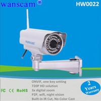 ONVIF 1 Megapixel 720P Wireless H.264 IR Cut Outdoor Security Monitor Night Vision Network  IP Internet Camera