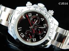 De los nuevos hombres mecánico automático auto viento completo oro de acero inoxidable relojes pulsera DAYTONA reloj de pulsera