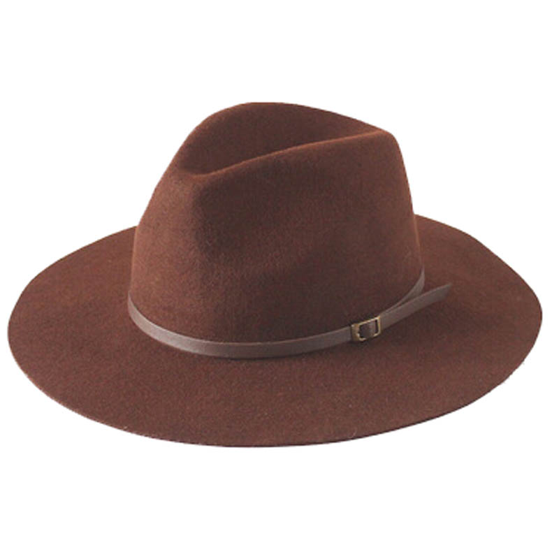 new dome rolled wool large brim winter fedora