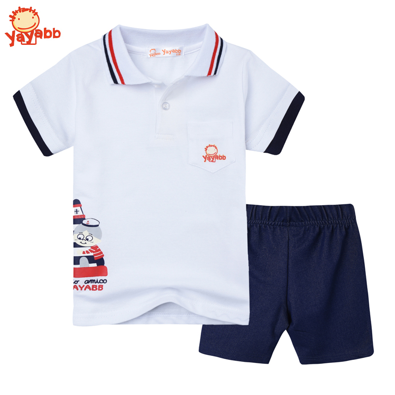 2016 Fashion Summer Kids Clothes Boys Clothing Sets Cotton Polo Shirts + Denim Pants Brand Boys Clothes Roupas Infantis Menino(China (Mainland))