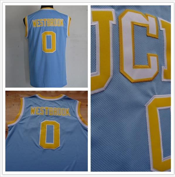 Russell Westbrook UCLA Jersey,Best Quality #0 Russell Westbrook UCLA Bruins Blue Stitched Jersey(China (Mainland))