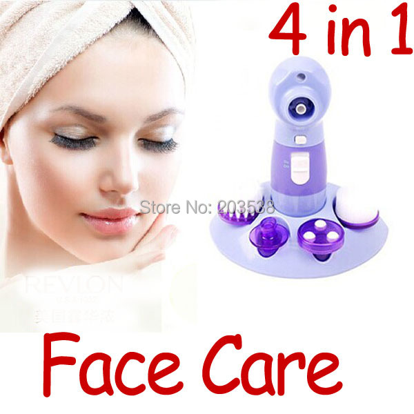4 in 1 Face Cleaner Deep Clean Electric Facial Skin Care Brush Massager(China (Mainland))