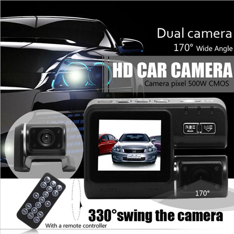 2015 new mini car black box dual camera lens Dashcams dash cam DVR recorder HD carcam G-Sensor with remote controller(China (Mainland))