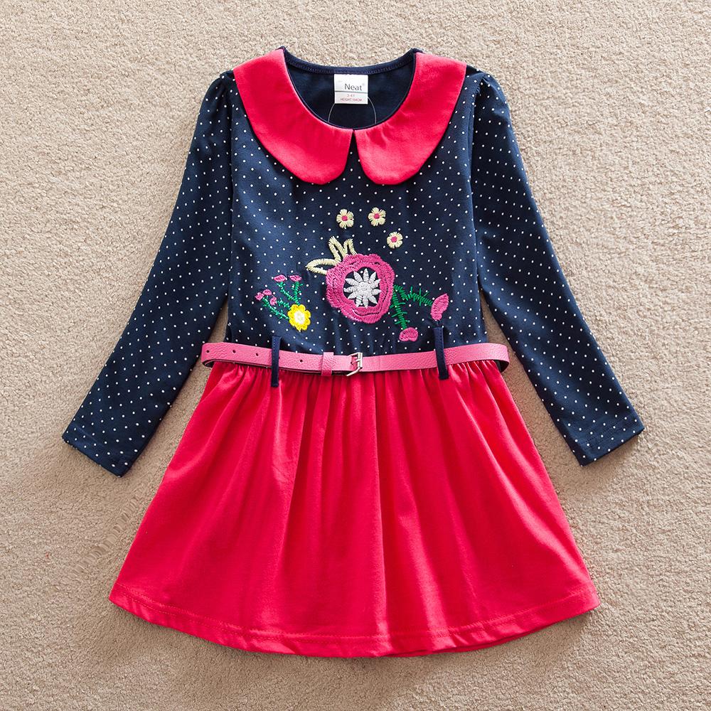 Retail 4-8Y 2016 neat brand dress baby girl Cartoon Children lace tutu party fashion princess dresses vestidos cloth wear LH6869(China (Mainland))
