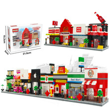 Buy Mini Street View Series Children Toys Assemblage Building Blocks Set Educational Toys Bricks Bunchems Duplo Building Blocks Toys for $10.35 in AliExpress store