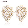 white pink flower brincos 2015 new earrings for women E2225