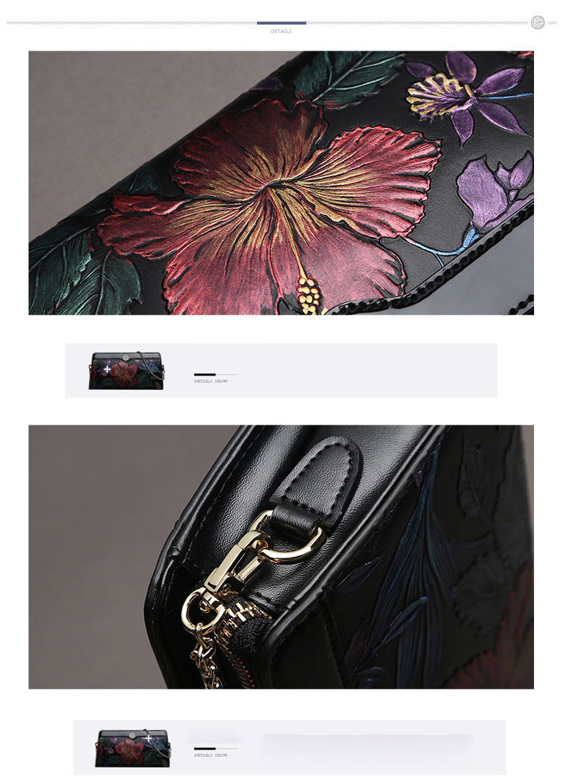 2016 New quality leather women bag famous brands fashion women shoulder bag national wind cowhide embossed clutch bag