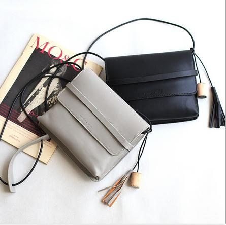 Free shipping 2016 New arrival women handbags Simple casual Europe fashion tassel PU leather mini cover bags<br><br>Aliexpress