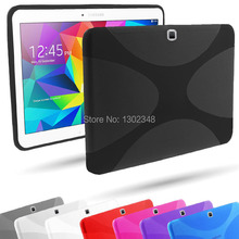 New Anti-skid Matte X Line Soft Silicon Rubber TPU Gel Skin Cover Protector Case for Samsung Galaxy Tab 4 10.1 T530 T531 T535