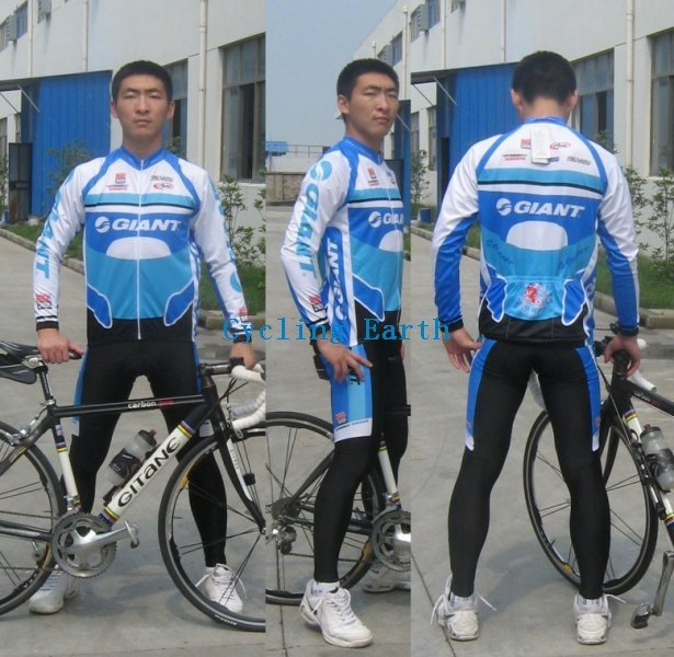Hot Sale!!! GIANT long sleeve cycling wear clothes bicycle/bike/riding jerseys+pants sets s-4xl