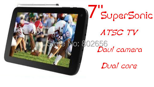 Big discount!! Digital TV Tablet PC 7 inch SuperSonic SC-77TV Dual core Dual camera HDMI 1G+8G Android 4.2 free shipping! HOT !(China (Mainland))