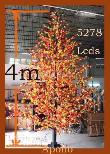 How To String Lights On A Maple Tree : Wholesale LED Maple Christmas Tree Light 4m Xmas Tree Lamp Landscape Party Outdoor Fairy String ...