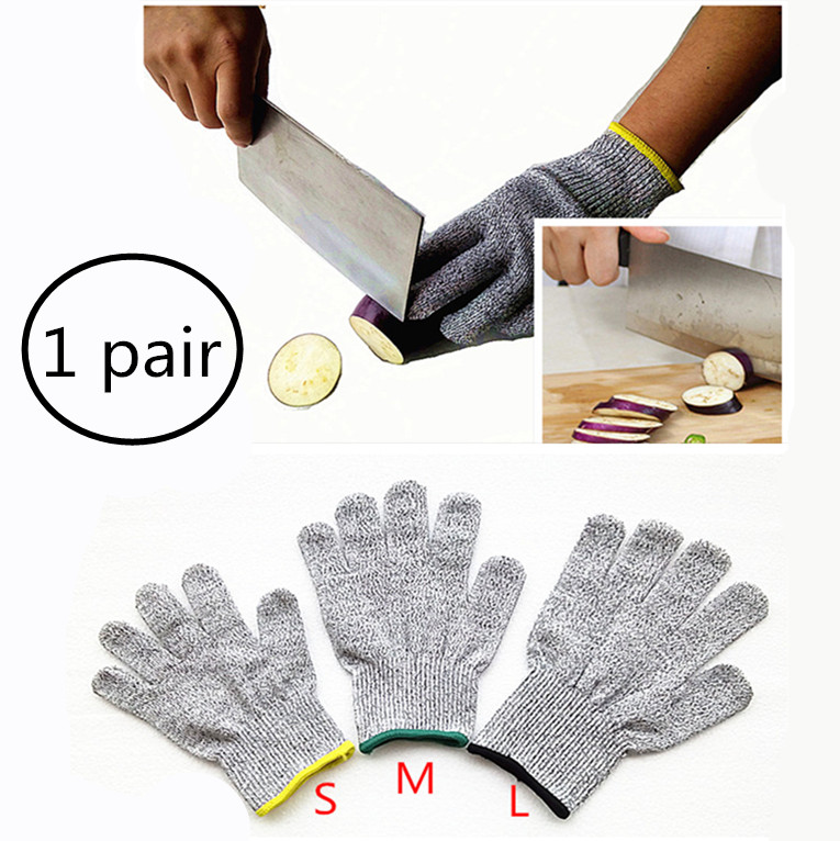 Cut Resistant Gloves Home Kitchen Work Food Contact Safe Work Glove Safety Level 5 Protection Glove(China (Mainland))