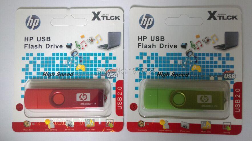 1PCS Retail 1000GB/1TB OTG USB flash drive Support Smart phone/U disk /Tablet PC memory disk/USB2.0 /OTG flash memory(China (Mainland))