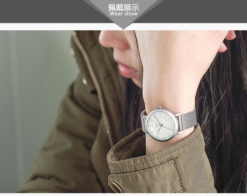 Новый юлий леди женщина наручные часы пара кварцевых часов лучший мода платье браслет стальной ленты девушка рождения любовника подарок JA-867