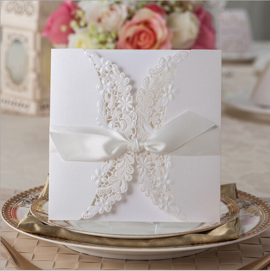 25pcs/lot Laser Cut Flower Vine Paper Crafts Elegant Wedding Invitation Card Birthday party invitations Decor Free Shipping(China (Mainland))