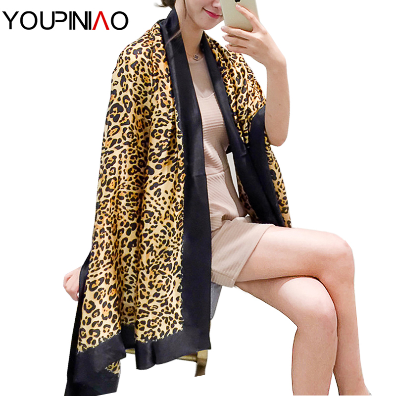 Luxurious Silk Pashmina Scarf Leopard Print Womens Lightweight Long Big Scarves(China (Mainland))