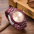 Luxury UWOOD Brand Natural Purple Heart Wooden Watch For Men Janpan MIYOTA Movement Wood Watches Dress