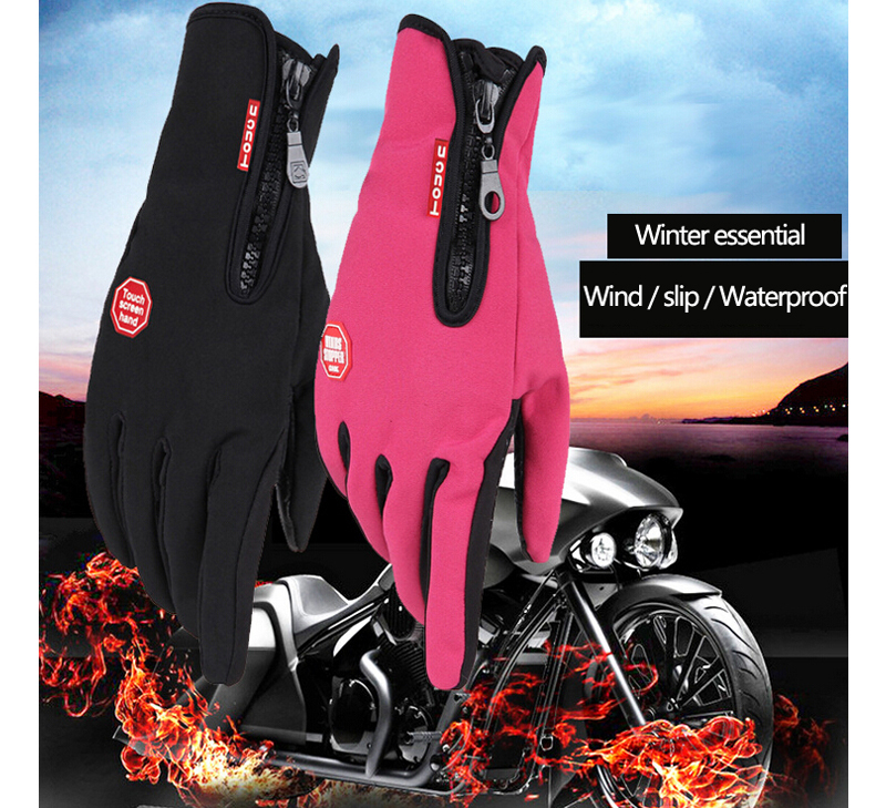 Гаджет  Waterproof WindStopper Touch Fleece Gloves Winter Bicycle Thermal Guante Men Women Ciclismo Luvas Full Finger Cycling GEL Gloves None Спорт и развлечения