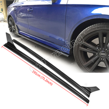 Buy High A3 S3 4 Door Carbon Fiber Styling Auto Car Accessories Side Skirt apron Audi (fit A3 S3 2014UP) for $542.90 in AliExpress store