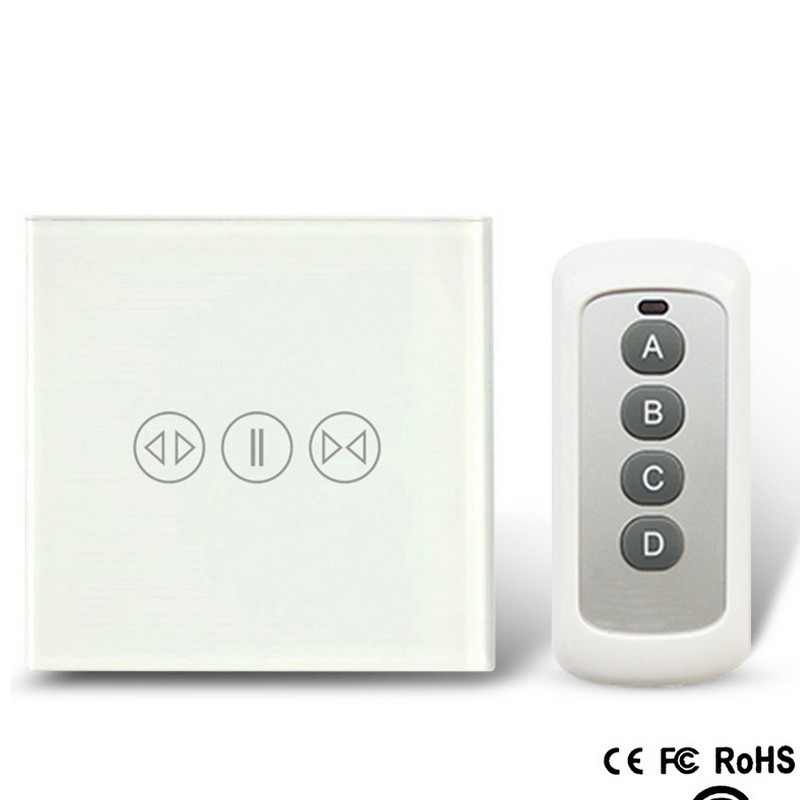 86 433 Smart touch curtain switch RF wireless remote control electric curtain motor control switch(China (Mainland))