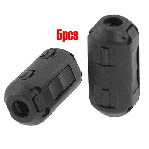 Гаджет  5 Pcs 5mm Diameter Black Clip On EMI RFI Noise Ferrite Core Filter None Электронные компоненты и материалы