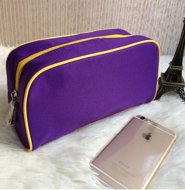Free Shipping Nylon Cosmetic Bags Pure Purple Color Makeup Storage Bags Wash Bags(China (Mainland))