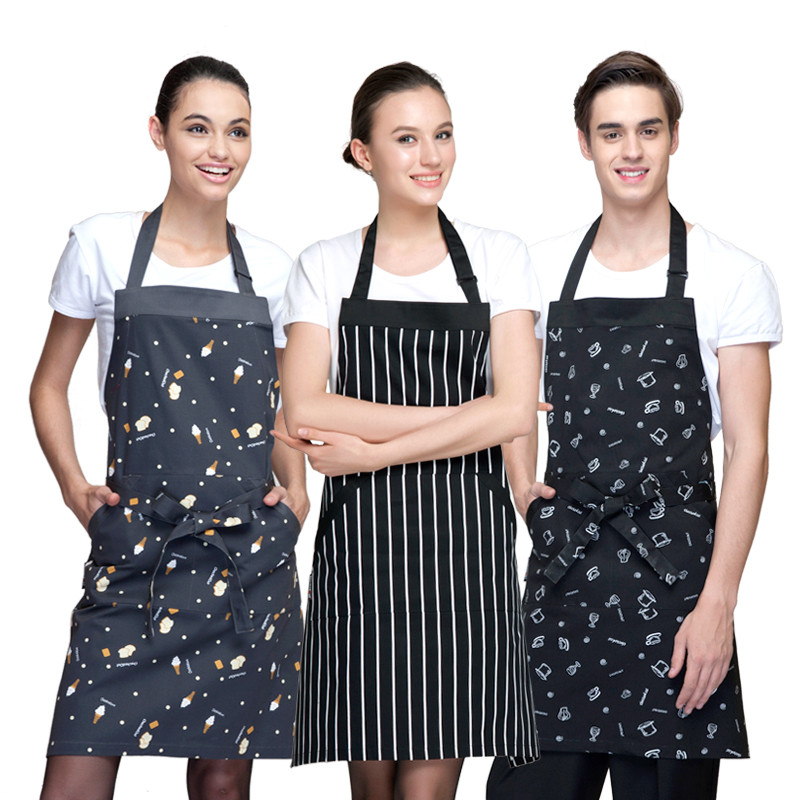 Korean fashion coffee shop food shop juice shop hotel restaurant cooking chef waiter working long apron(China (Mainland))