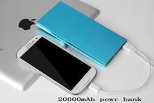 Luxury Matte Polymer Super Slim Power Bank 20000mah Portable Charger External Battery 20000 mah Mobile Phone Backup Powers(China (Mainland))