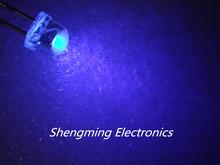 1000PCS Straw Hat 5MM Purple LED UV LED Light Emitting Diode(China (Mainland))
