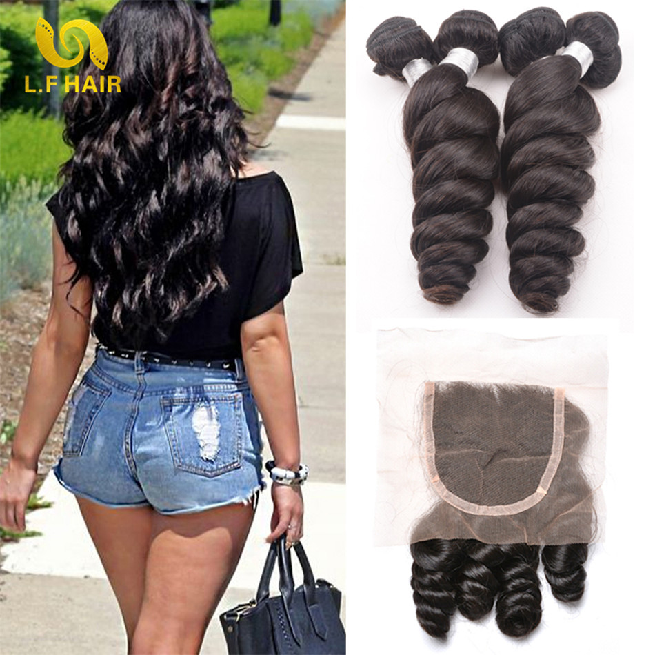 New Star Hair With Closure Loose Wave Malaysian Hair With Closure 6a Malaysian Virgin Hair With Closure 3 Bundles With Closure<br><br>Aliexpress