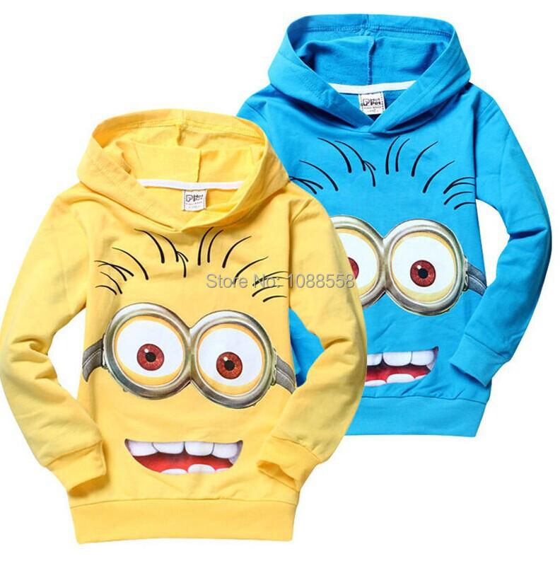 1 шт. / lot гадкий я 2 миньон мальчики одежда, Девочки nova рубашки, Дети весна толстовки топы и тройник