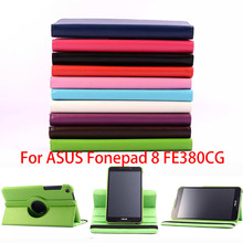 2015 New Fashion Case For Asus Fonepad 8 FE380CG 8.0 inch Tablet PU Leather Case Rotating Cover with Free Stylus Pen
