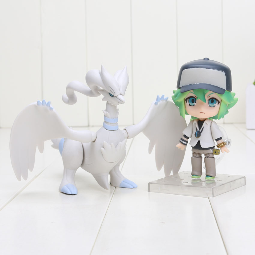 "Nendoroid 537 Pokemon Go Figures 4"" 10CM Pokemon N Reshiram Toys PVC Model Collection Toy(China (Mainland))"