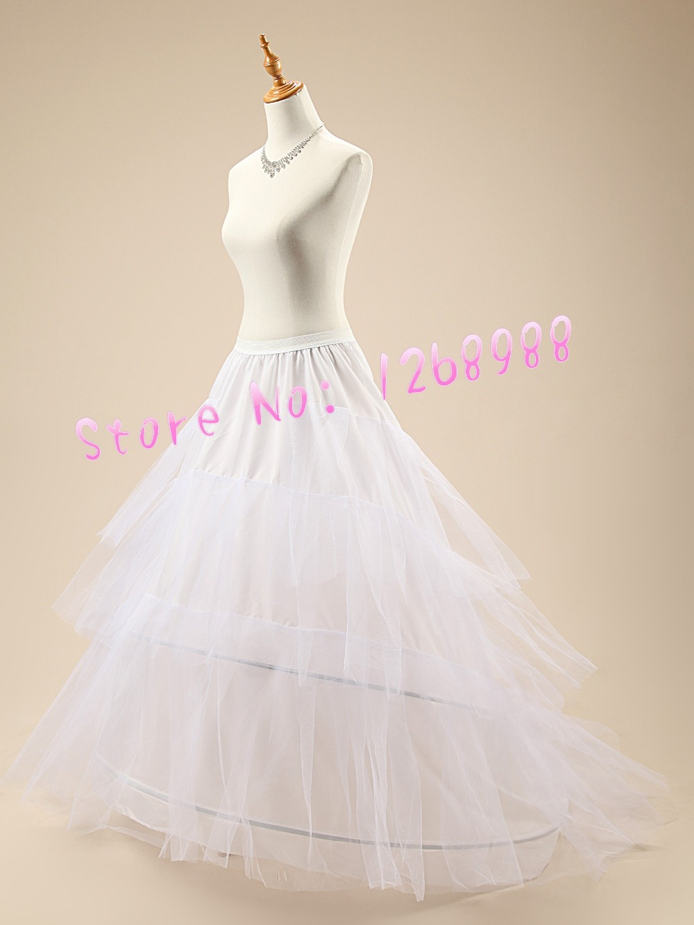 Cheap White Long Tulle Skirt Petticoats Crinoline Slip 2015 Wedding Bride Dress Underskirt Plus