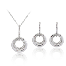 lima peru colar feminino Stainless Steel Shell Jewelry set Wedding Bridal Dress Accessories Crystal Necklace Earrings For Women