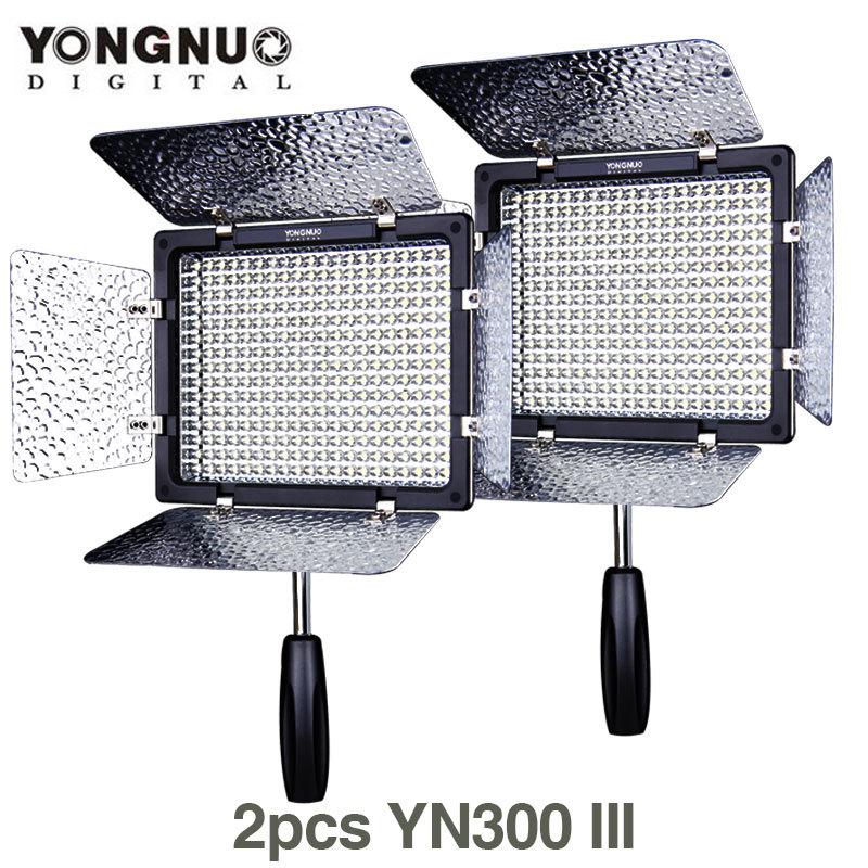 Здесь можно купить  2pcs Yongnuo YN-300 III 5500K Camera LED Video Light Photo Studio lighting Lamp Camcorder 2pcs Yongnuo YN-300 III 5500K Camera LED Video Light Photo Studio lighting Lamp Camcorder Бытовая электроника