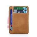 PHENAS Credit ID Card Holder imitate Leather Vintage Mini slim Wallet creditcard Holder funda tarjeta identificativa