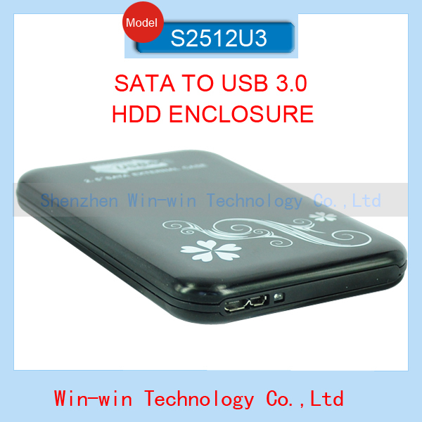 New Sata to USB 3.0 HDD Case 2.5 inch External Hard Drive Case HDD Enclosure support 2TB Storage in hot sale(China (Mainland))